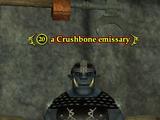 A Crushbone emissary (Crushbone Keep)