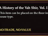 A History of the Vah Shir, Vol. I (Item)