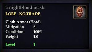 A nightblood mask