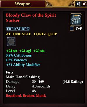 Bloody Claw of the Spirit Sucker