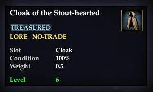 Cloak of the Stout-hearted (Version 1)