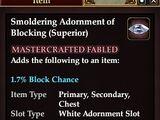 Smoldering Adornment of Blocking (Superior)