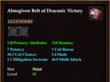 Almsgiven Belt of Draconic Victory