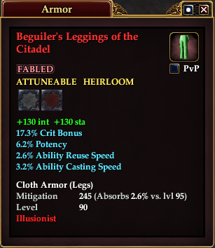 Beguiler's Leggings of the Citadel
