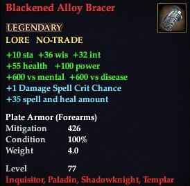Blackened Alloy Bracer
