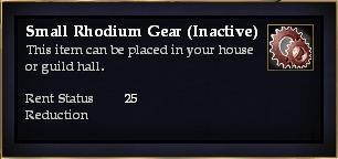 Small Rhodium Gear (Inactive)