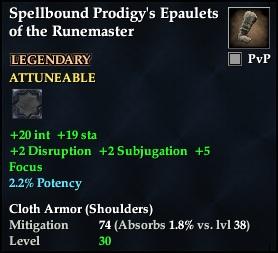 Spellbound Prodigy's Epaulets of the Runemaster