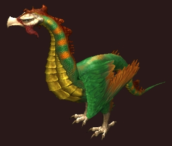 A Green Tamed Cockatrice