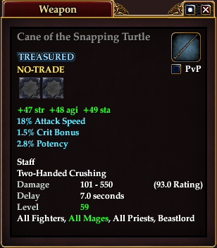 Cane of the Snapping Turtle
