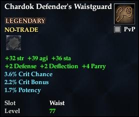 Chardok Defender's Waistguard (Level 77)