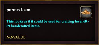 Porous loam (Crate Reward)