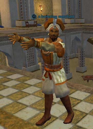 A bartering merchant