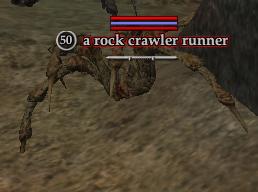 A rock crawler runner