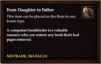 From Daughter to Father (House Item)