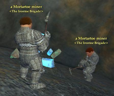 A Mortartoe miner