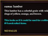 Sumac lumber