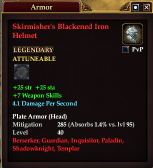 Skirmisher's Blackened Iron Helmet