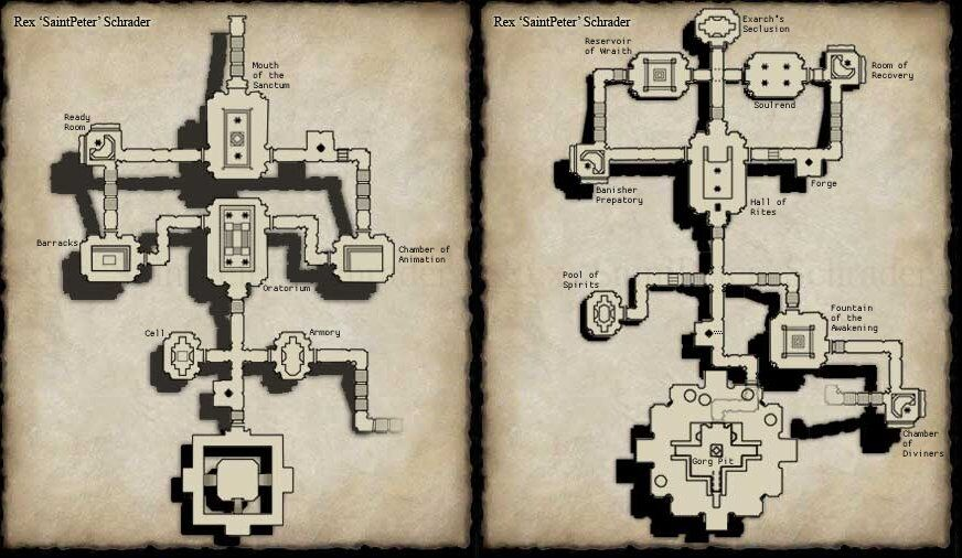 A map of Sanctum of the Scaleborn