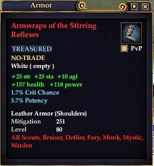 Armwraps of the Stirring Reflexes
