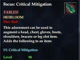 Focus: Critical Mitigation