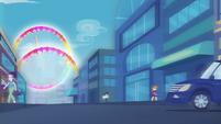 Rainbow Dash rainbooms into the sky EGDS42