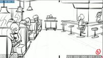 EG3 animatic - Panning shot of the Sweet Shoppe 2