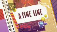 A Fine Line title card EGDS2