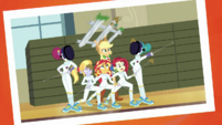 Photo of Applejack and the fencing club EGDS4