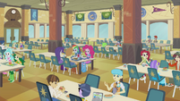 Rainbow and friends in the cafeteria EG2