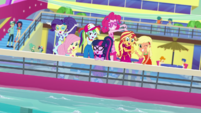 Equestria Girls together by the pool EGDS41