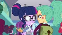 Twilight bumps into green-haired girl EG3