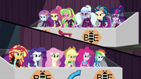 Wonderbolts and Shadowbolts on opposing sides EG3