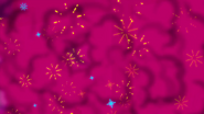 Explosion of pink smoke and fireworks EGSBP