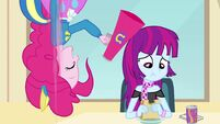 Pinkie Pie with a megaphone