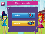 MLPEG app archery mini game practice or compete