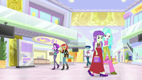 Sunset and Starlight walk through the mall EGS3