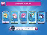 "MLPEG app Applejack, Fluttershy, Rainbow Dash, and Rarity ""Call a Friend"" options"