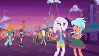 Equestria Land patrons going to light parade EGROF