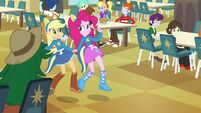 Applejack and Pinkie Pie holding hands