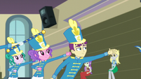 Band members with their arms outstretched EG3