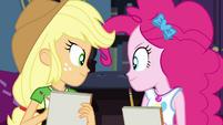 Applejack and Pinkie Pie looking confident EGDS6