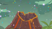 Glittery sprinkles rain down on the volcano EGDS1