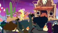 Cowboy on a Wild West-themed float EGROF