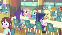 Main five having lunch together EGFF