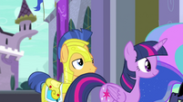 Princess Twilight passing by Flash Sentry EGFF