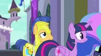 Princess Twilight passing by Flash Sentry EGFF