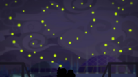 Fireflies in a heart shape over Twilight and Timber EGDS7