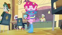 Pinkie Pie spinning around