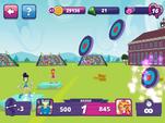 MLPEG app archery mini-game back bullseye