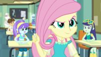 Fluttershy snaps off the end of her chalk piece EGDS10